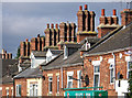 SK5581 : Shireoaks - chimney stacks on Shireoaks Row : Week 34