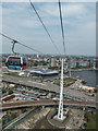 TQ3980 : Emirates Cable Car across the Thames, London E1 by Christine Matthews