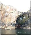 NR2947 : Cave beneath Soldier's Rock, Islay by Becky Williamson