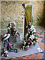 ST9168 : Floral art exhibit, Lacock Abbey, Lacock, Wiltshire by Brian Robert Marshall