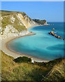 SY8080 : Milky sea, St. Oswald's Bay, near Lulworth, Dorset by Edmund Shaw