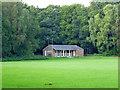 SP9200 : Cricket pavilion, Hyde Heath by Robin Webster