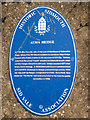 Photo of Alma Bridge, Sidmouth blue plaque