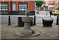 TQ2778 : Drinking fountain, Sloane Square by N Chadwick