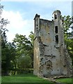 SP3211 : Minster Lovell - Old Hall - Southwest Tower ruins by Rob Farrow