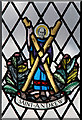 TL4164 : St Andrew, Oakington - Stained glass window by John Salmon
