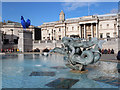 TQ2980 : Fountain at Trafalgar Square by Oast House Archive