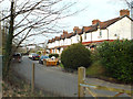 SP0974 : Terrace of small houses, Station Road by Earlswood Station by Robin Stott