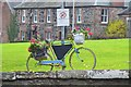 NT6224 : Decorated bicycle, Ancrum village green by Jim Barton