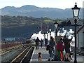 SH5738 : On the platform at Porthmadog Harbour Station : Week 43