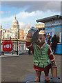 "TQ3280 : ""Shakesbear"" Paddington Bear, Millennium Bridge by Oast House Archive"