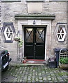 SE0426 : Doorway to St Mary's Church School, Luddenden by Humphrey Bolton