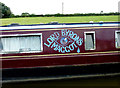 SJ8560 : Moored narrowboat south-east of Astbury, Cheshire by Roger  Kidd