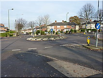 SP1285 : Roundabout, Yardley by Richard Law