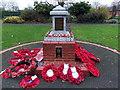 SU5290 : Dedication on Didcot War Memorial by Jaggery