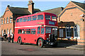 TQ5686 : Vintage bus at Upminster station : Week 49