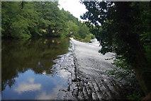 SE3158 : Scotton Mill Weir by N Chadwick