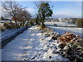 H4268 : Snow along a minor road, Mullaghmore : Week 49