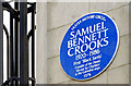 Photo of Samuel Bennett Crooks blue plaque