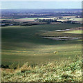 TL0019 : View west from Dunstable Downs, 1973 by Robin Webster