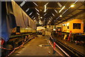 TQ5738 : Inside the engine shed, Spa Valley Railway by N Chadwick