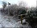 SJ4560 : Public footpath to Milton Green by Christine Johnstone