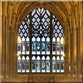 SJ8398 : John Rylands Library, The Biblical Window by David Dixon