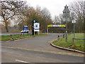 Dist:0.1km<br/>The car park entrance off Thames Side at Laleham.