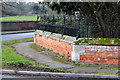 SK5988 : Garden wall and railings at Manor Farm by Alan Murray-Rust