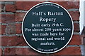Photo of Hall's Barton Ropery green plaque