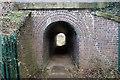SJ4469 : Tunnel under the Chester to Warrington Railway Line by Jeff Buck