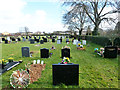 TL8215 : Witham cemetery - newer part by Robin Webster