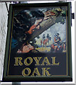 SD9400 : Sign for the Royal Oak, Hurst Cross by JThomas