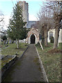 TM2381 : St.Peter's Church Path by Adrian Cable