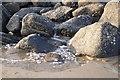 SZ9899 : Water draining from rock island : Week 11