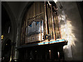 SE1633 : Bradford Cathedral: organ pipes by Stephen Craven