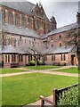 SJ8796 : The Garden/Courtyard at Gorton Monastery by David Dixon