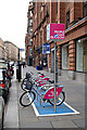 NS5965 : Nextbike Glasgow cycle hire point: Merchant Square by Thomas Nugent
