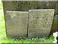 SK6929 : Hickling Churchyard - Belvoir Angel headstones by Alan Murray-Rust