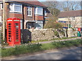 SY6488 : Winterborne St. Martin: red telephone box by Chris Downer