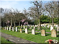 SU9193 : The lower graveyard at Holy Trinity church by David Purchase