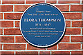 Photo of Flora Thompson blue plaque