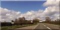 SJ5552 : Croxton Green farm ahead by John Firth