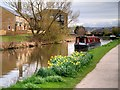 SE1040 : Narrowboat on the Leeds and Liverpool Canal near Crossflatts by David Dixon