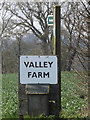 TM2273 : Valley Farm sign & footpath sign by Adrian Cable