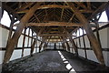 SJ6780 : The Cruck Barn at Arley Hall by Jeff Buck