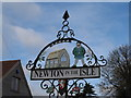 TF4314 : Village sign, Newton in the Isle (close-up) by Bikeboy