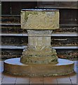 TF9532 : Little Snoring; St Andrew's Church; Norman Font by Michael Garlick