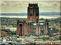 SJ3589 : Anglican Cathedral Church of Christ in Liverpool, viewed from St John's Beacon : Week 17