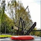 SJ9397 : Lifting the  bridge by Gerald England